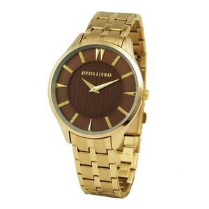 Reloj dorado hombre, esfera marrón 8435334800095 Devota & Lomba