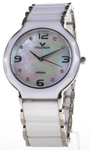 Reloj Mujer blanco cerámica y acero ,esfera nacar y cristal zafiro 47520-05 Viceroy