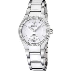 Reloj Festina de mujer acero y ceramica blanca F16637/1
