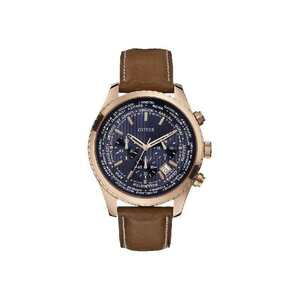 Reloj Guess caballero chapado rosé correa crono W0500G1
