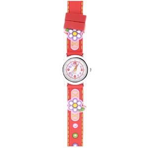 Reloj infantil Jacques Rojo Flores  Jf1232 Jacques Farel