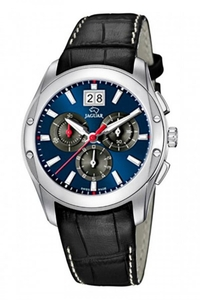 Reloj J615/J Jaguar con correa de piel negra