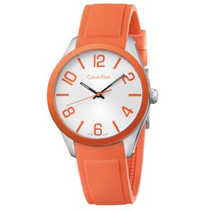 Reloj K5E51YY6 de silicona color naranja Calvin Klein