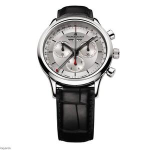 Reloj Maurice Lacroix LC1228-ss001-131 con correa de piel negra.
