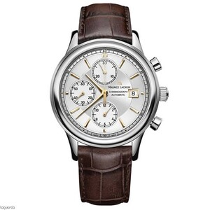 Reloj Maurice Lacroix LC6158-SS001-130-1 con correa de piel marron.