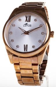 Reloj Lotus Acero Cadena color cobre Circonitas Saetas fluorescentes 18144/3