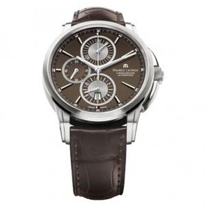 Reloj Maurice Lacroix Automático Crono PT6188-SS001-730Caja de acero inoxidable con correa de cuero