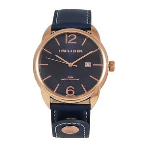 Reloj piel hombre, esfera azul 8435432512203 Devota & Lomba