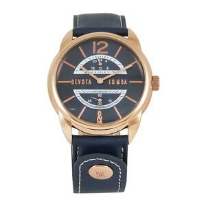 Reloj piel hombre, esfera azul 8435432512258 Devota & Lomba
