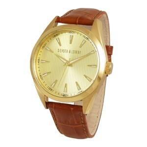 Reloj piel hombre, esfera dorada 8435334800194 Devota & Lomba