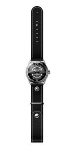 Reloj piel hombre, esfera negra 8435432512234 Devota & Lomba