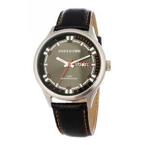 Reloj piel hombre, esfera negra 8435432512296 Devota & Lomba