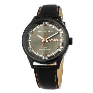 Reloj piel hombre, esfera negra 8435432512302 Devota & Lomba