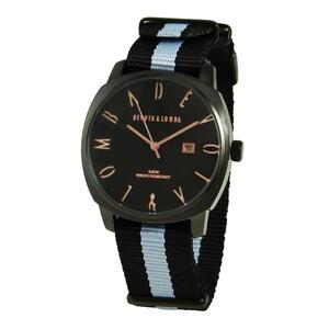 Reloj piel hombre, esfera negra 8435432513118 Devota & Lomba