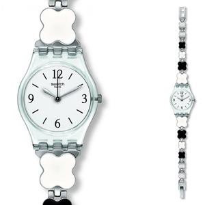 Reloj Swatch lady blanco y negro LK367G
