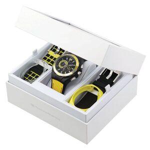 Reloj tecnomarine caucho negro combinado amrillo crono 112016 Technomarine