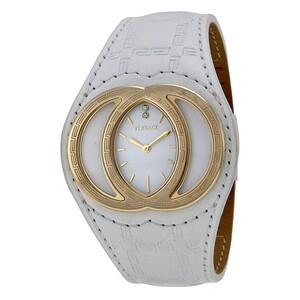 Reloj Versace Eclissi cuero blanco y esfera blanca