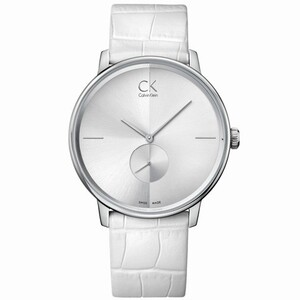 Reloj Calvin Klein  caja acero  correa blanca  K2Y211K6