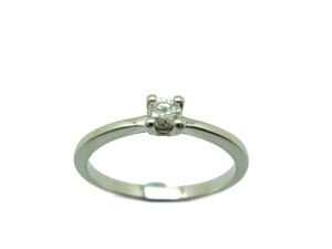 Anillo Solitario Oro blanco y Diamante A-421 B-79