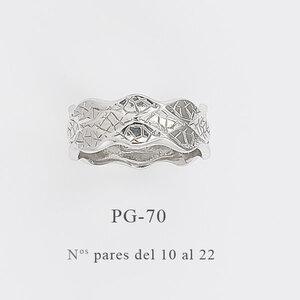 Sortija plata Inspiración en la obra La Pedrera de Gaudí PG-70 Finor