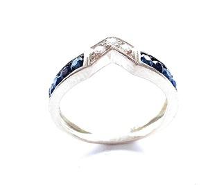 Sortijas de zafiros  y diamantes en oro 18 kilates