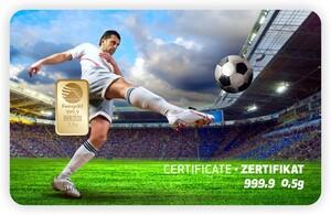 Tarjeta ORO regalo sport-fussball PIM