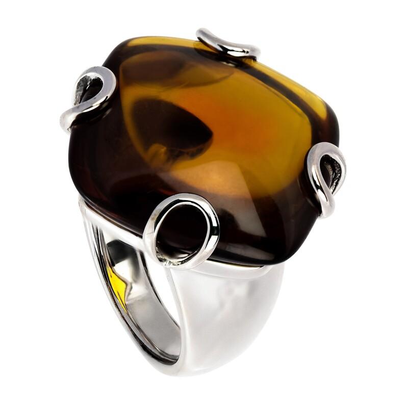 Abalorio anillo piedra cuarzo marron 8435334801146 DEVOTA Y LOMBA Devota & Lomba
