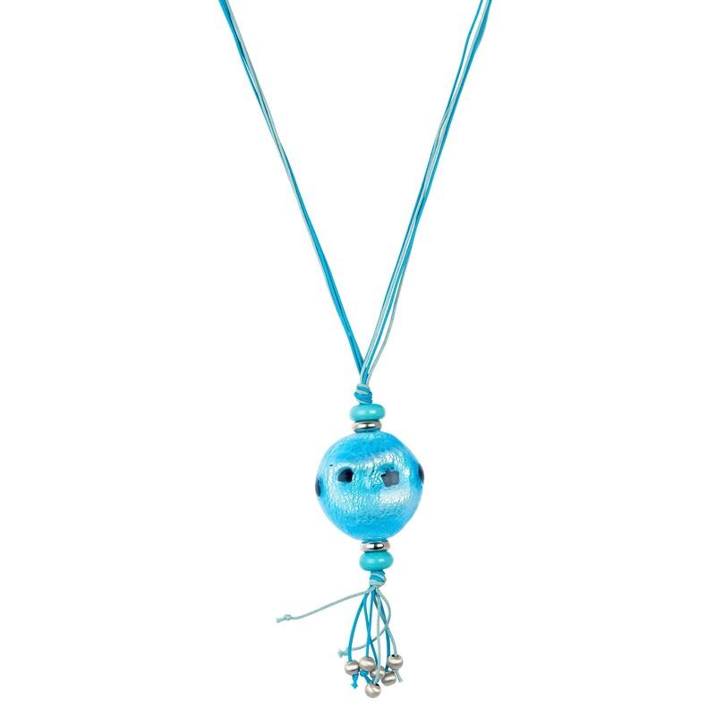 Abalorio colgante bola azul con detalles colgantes 8435334800996 DEVOTA Y LOMBA Devota & Lomba