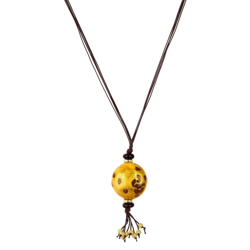 Abalorio colgante bola dorada con detalles colgantes 8435334801009 DEVOTA Y LOMBA Devota & Lomba
