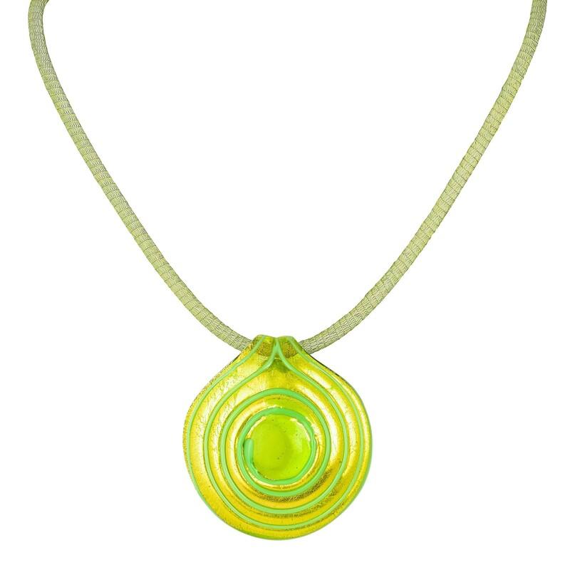 Abalorio colgante cristal color efecto caracolado dorado verde 8435334800880 DEVOTA Y LOMBA Devota & Lomba
