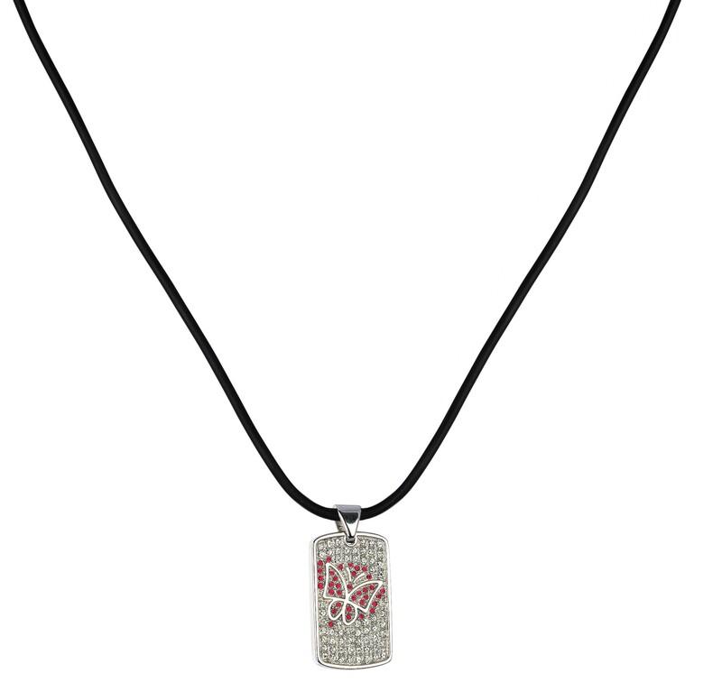 Abalorio colgante plata mariposa circonio rojo 8435334802211 DEVOTA Y LOMBA Devota & Lomba