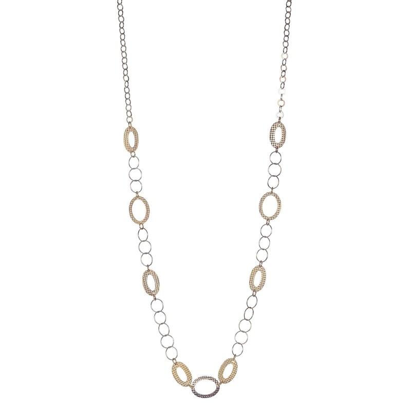Abalorio collar cadena bicolor 8435334801344 DEVOTA Y LOMBA Devota & Lomba
