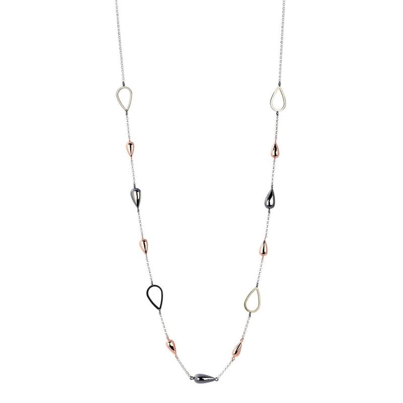 Abalorio collar cadena con lágrimas multicolor 8435334801696 DEVOTA Y LOMBA Devota & Lomba