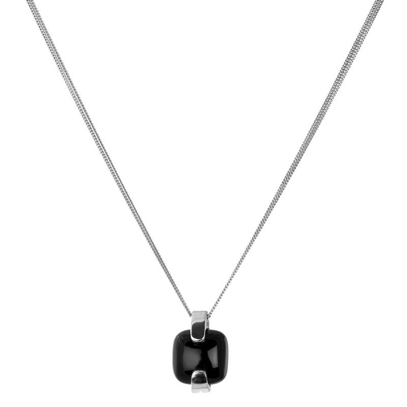 Abalorio collar colgante de plata con onix 8435334801962 DEVOTA Y LOMBA Devota & Lomba