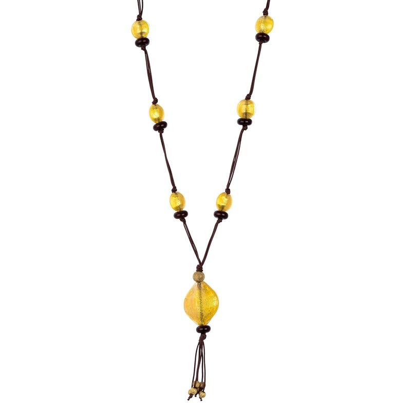 Abalorio collar con piedras en bola cuarzos dorados 8435334800903 DEVOTA Y LOMBA Devota & Lomba