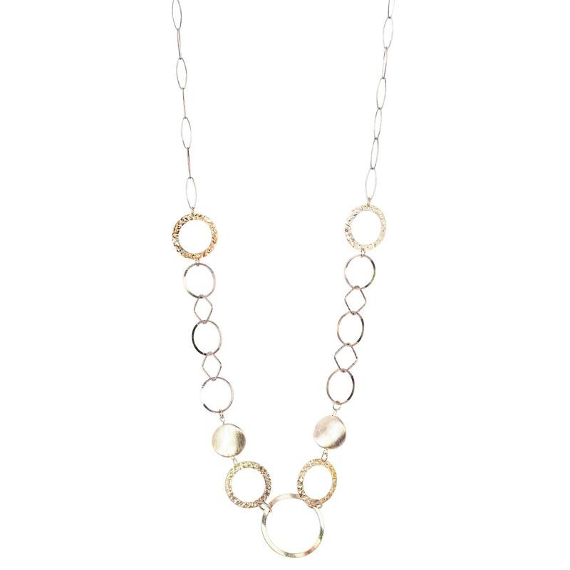 Abalorio collar dorado con bolas y aros dorados 8435334801269 DEVOTA Y LOMBA Devota & Lomba
