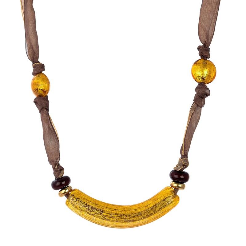 Abalorio collar seda y dorado 8435334801016 DEVOTA Y LOMBA Devota & Lomba