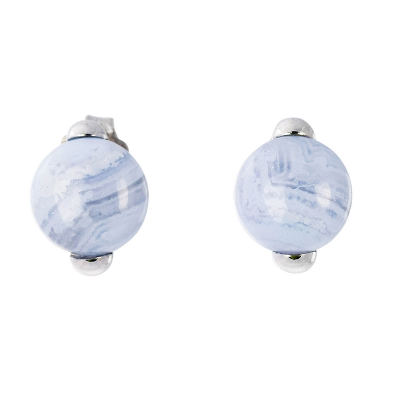 Abalorio pendientes piedras en forma de bola azulada 8435334801047 DEVOTA Y LOMBA Devota & Lomba