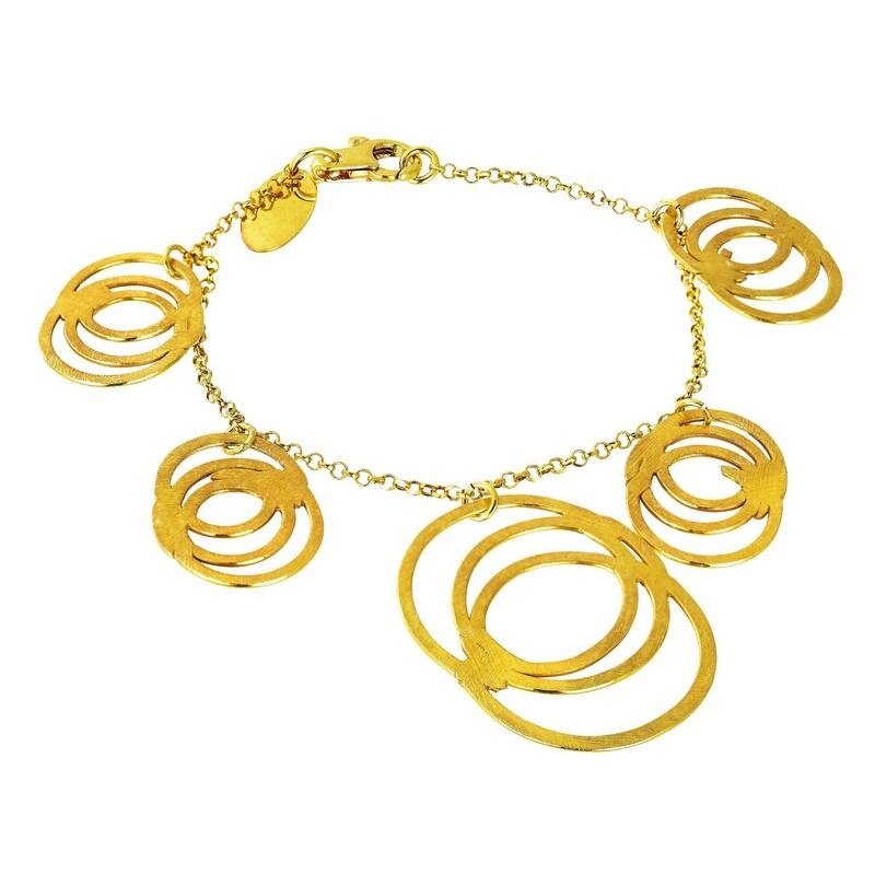 Abalorio pulsera dorada con diseño de aros entrelazados 8435334801498 DEVOTA Y LOMBA Devota & Lomba