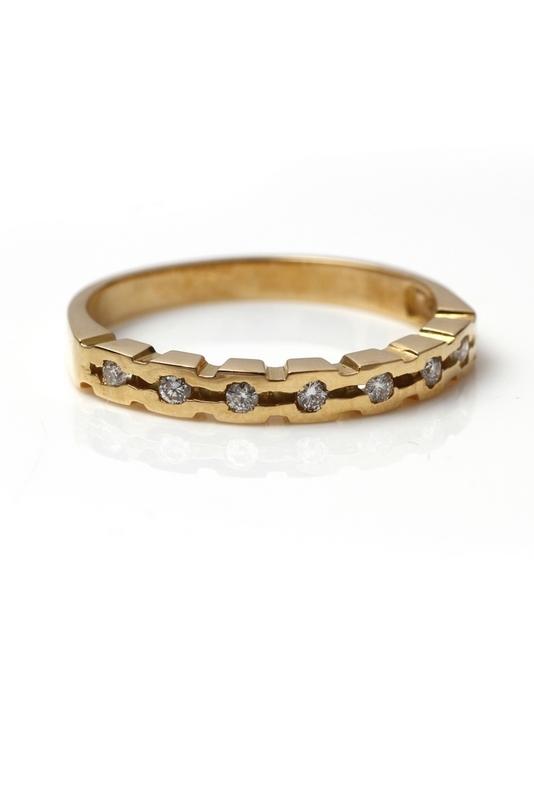 Anillo de Oro con Diamantes 0,10 quilates Cresber  1010070214