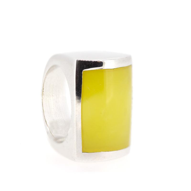 Anillo plata piedra amarilla  15S46Y Stradda