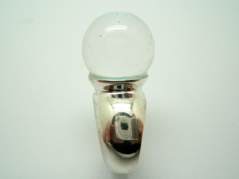 Anillo Plata y Cristal de roca B-79