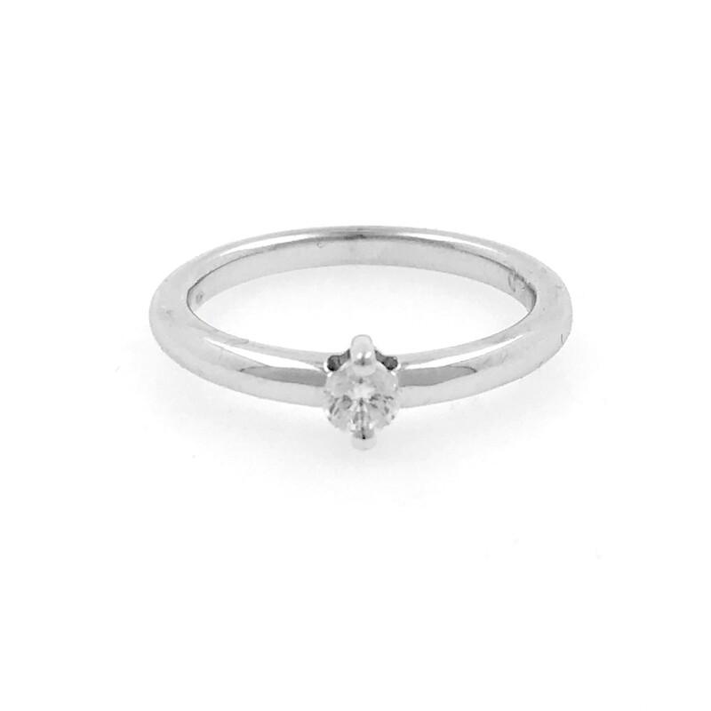 6ac8249675aa Anillo solitario oro blanco con diamante 0