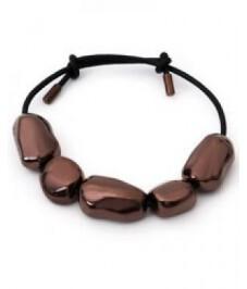 Brazalete Viceroy cuero negro y piedras 3037P01011
