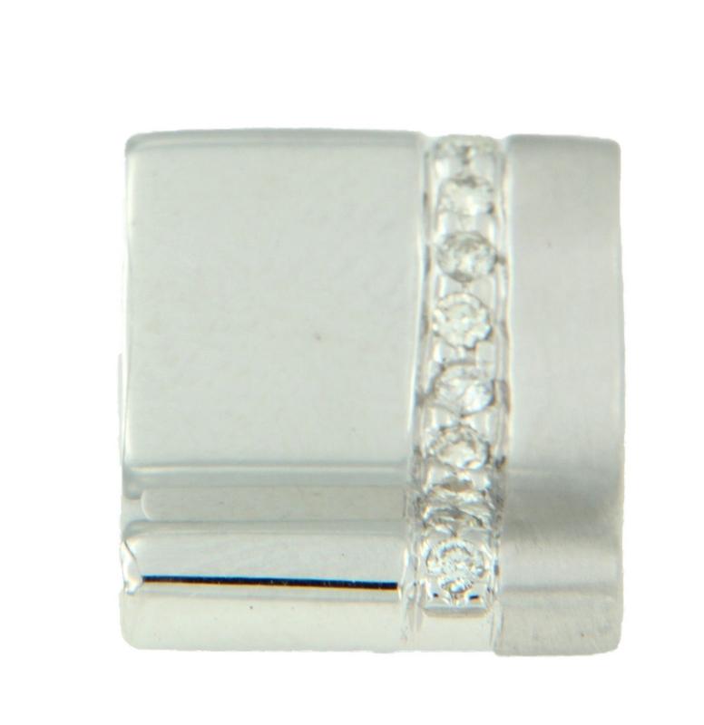 Colgante de oro blanco con diamantes