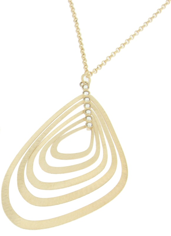 Colgante de plata dorada con circonitas