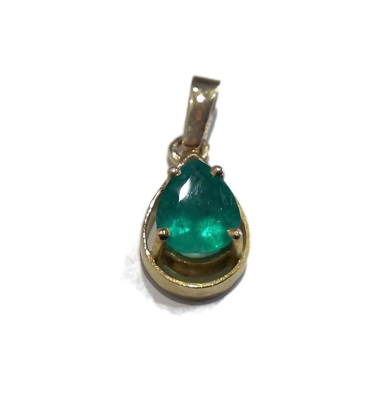 Colgante Esmeralda Oro Ley