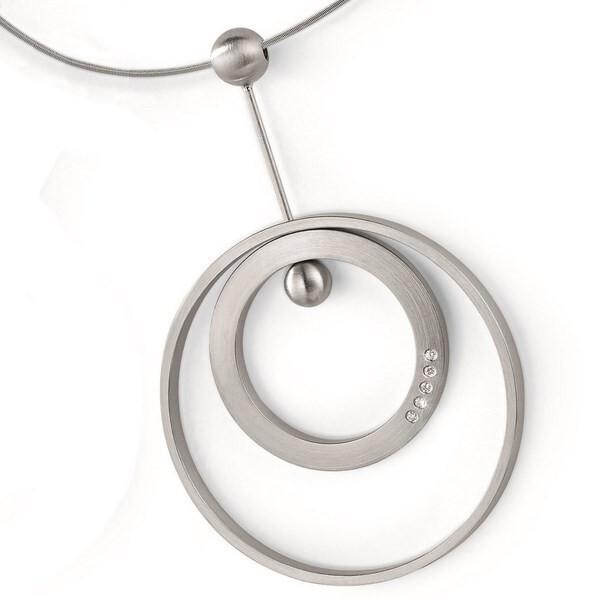 Colgante acero quirúrgico con diamantes Xen 031372G0 031372G0