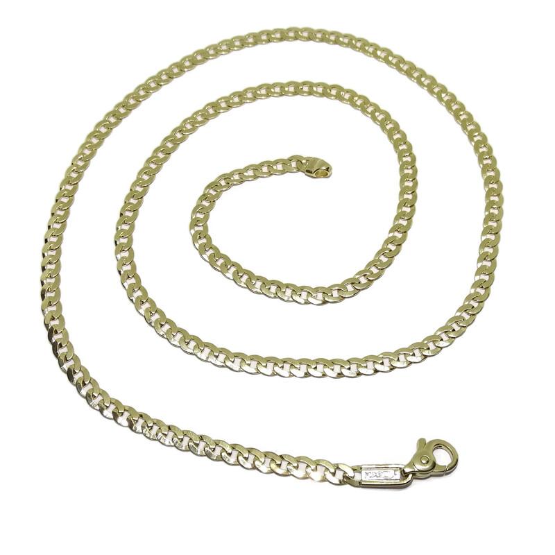 9457538f2e2a Collar Cadena para Hombre de Oro Amarillo de 18k Tipo barbada Grande