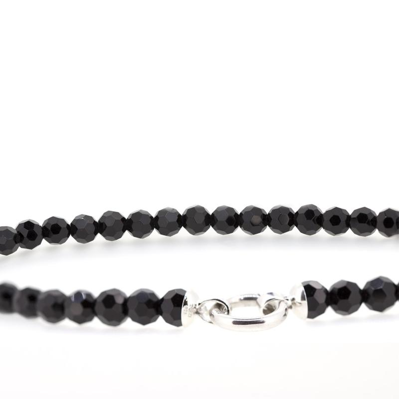 Collar de plata contador negro ZIC401Z Zinzi